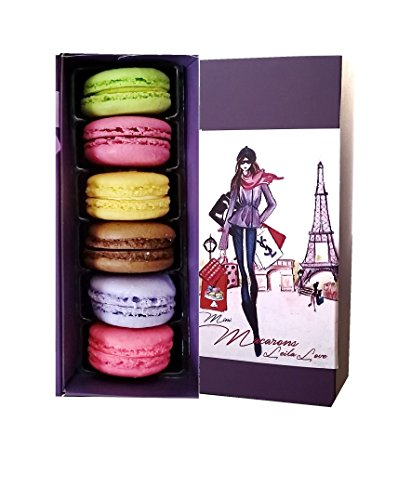 Leilalove Original Macarons 5 Pieces - 5 Flavors - Paris and Fashion gift box