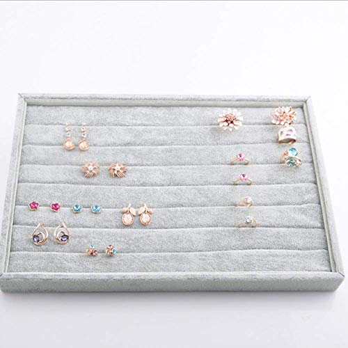 Stylifing 7 Slots Ring Earrings Organizer Holder Jewelry Tray Box Showcase Display Drawer Organizer for Girlfriend Wife