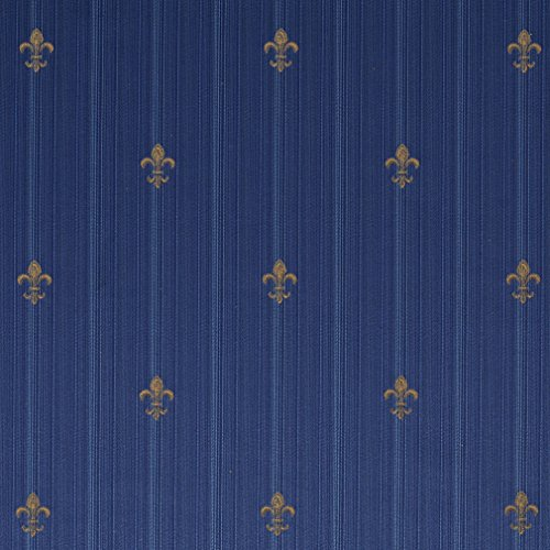 Timeless Blue Dark Blue Gold Yellow Heirloom Vintage Damask Jacquard Upholstery Fabric by the yard (Timeless Sofa Traditional)