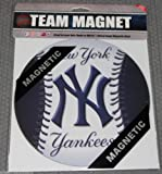 "MLB New York Yankees 7 3/4"" Baseball Team Logo Car Magnet"