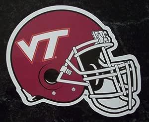 Amazon.com : Virginia Tech Hokies Helmet Logo NCAA Car ...