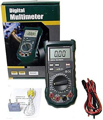 Sinometer Digital Multimeter Multitester DMM AC/DC A/V Capacitor + Resisitance + Capacitance + Inductance + Temperature ,Better Than MS8268