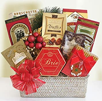 Christmas Gift Packages.Amazon Com Festive Holiday Feast Gourmet Food Christmas