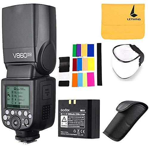 GODOX V860II-N 2.4G TTL Li-on Battery Camera Flash Compatible for Nikon D800 D700 D7100 D7000 D5200 D5100 D5000 D300 D300S D3200 D3100 D3000 D200 D70S D810 D610 D90 D750 (V860II-N)