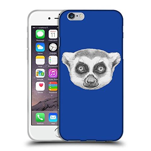 """GoGoMobile Coque de Protection TPU Silicone Case pour // Q05390613 Portrait lémurien Bleu // Apple iPhone 6 PLUS 5.5"""""""
