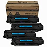 4 Pack V4INK ® New Compatible Hp CE285A 85A Toner Cartridge-black, Office Central