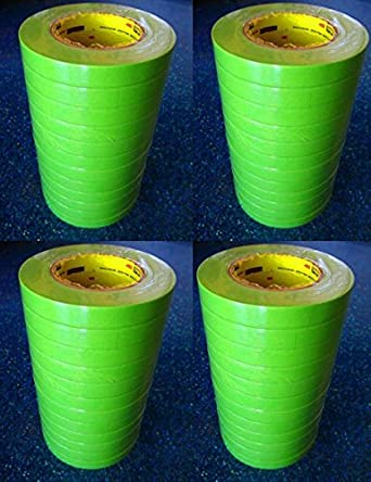 3M Scotch Performance Green 233 Auto Paint Masking Tape 1 Inch 1 Roll of 26336