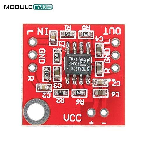 Stereo TDA1308 Headphone Amplifier Board Headset Amp Preamplifier Board Module 3V-6V DIY Kit Electronic PCB Board Module (Kit Stereo Preamplifier)