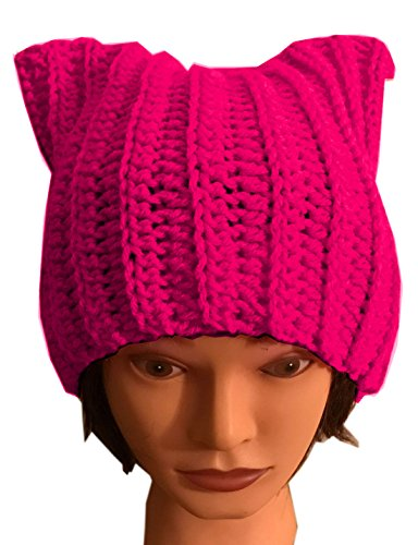 ALLDECOR Handmade Knitted Pussy Cat Ear Beanie Hat for Womens March Winter Gifts