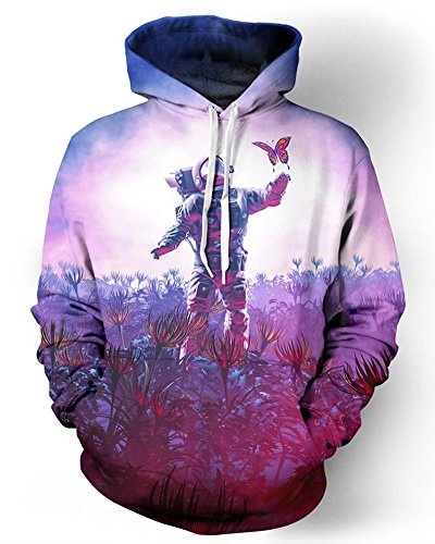 Chiclook Cool 3D Hoodies Astronaut Butterfly Trip Funny Men Winter Male Casual Hip Hop Streetwear Hoody Tops Tracksuit Sweatshirts