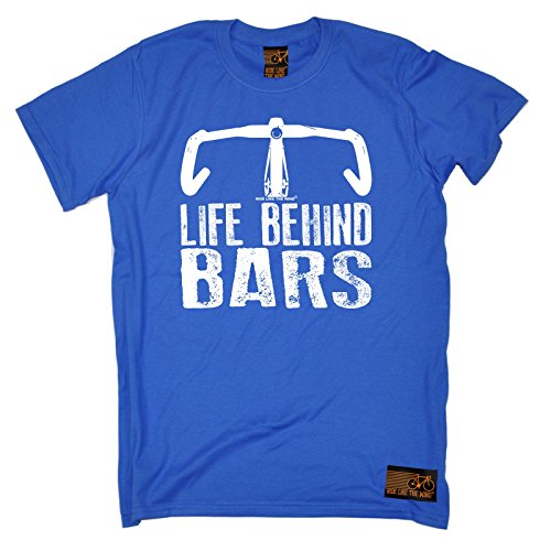 RLTW Premium - Men's Life Behind Bars ... Bicycle Racer (L - ROYAL) T-SHIRT (Nike Bicycle Shorts)