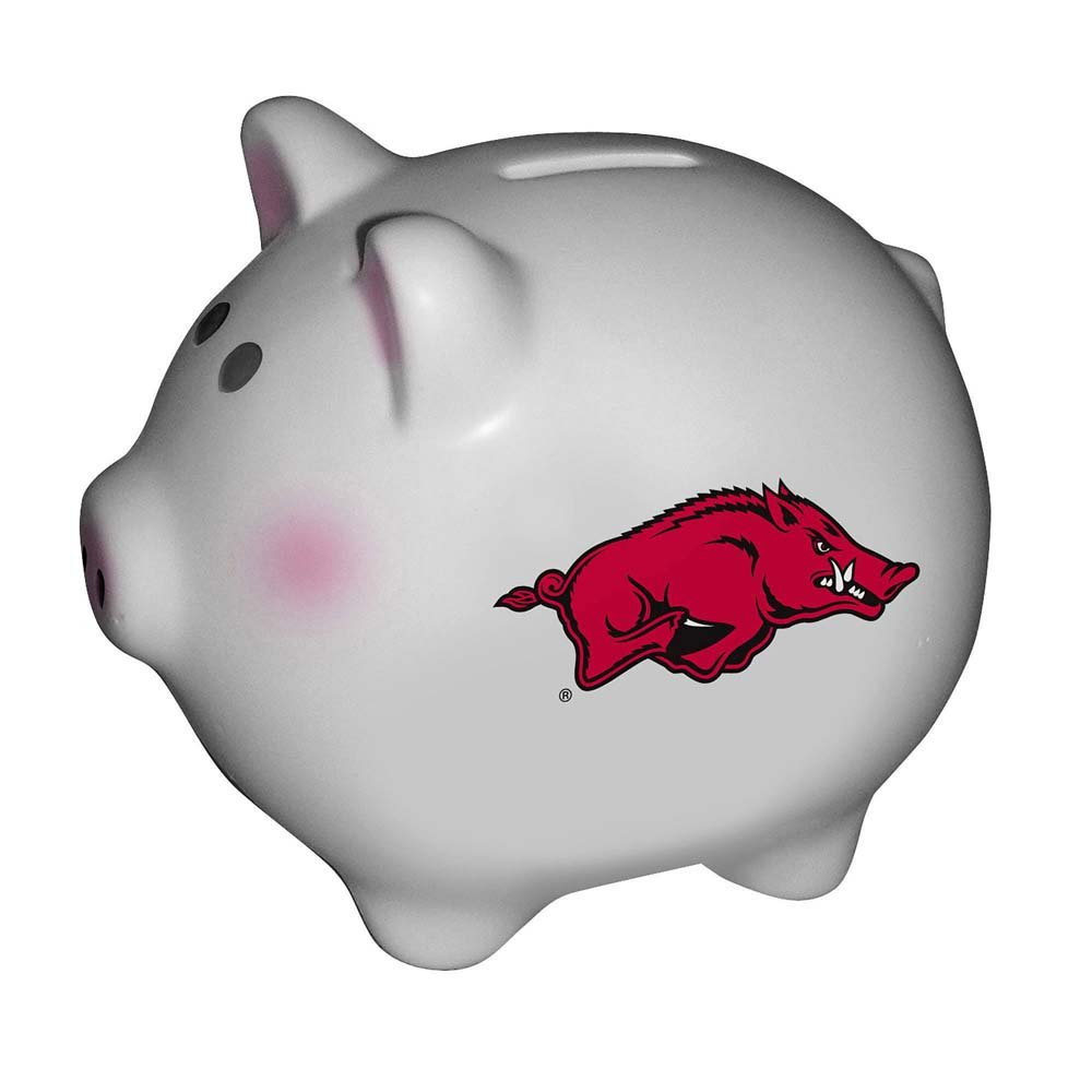 The Memory Company NCAA University of Arkansas, Fayetteville Official Team Piggy Bank, Multicolor, One Size