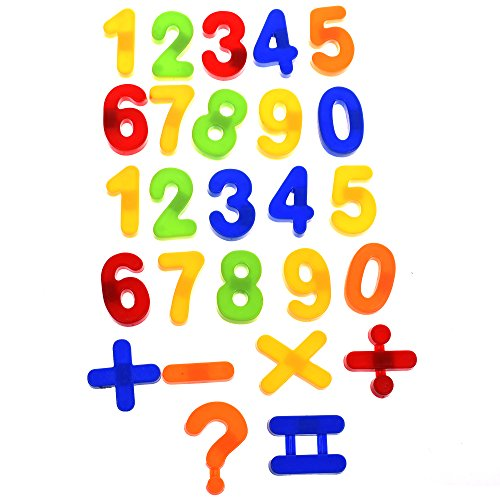 BCP set of 26 pcs Plastic Magnetic Numbers for Kids ()
