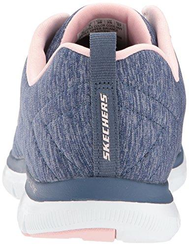 Skechers Damen Appel Flex 2.0 Blau Fitnessschuhe Extérieur