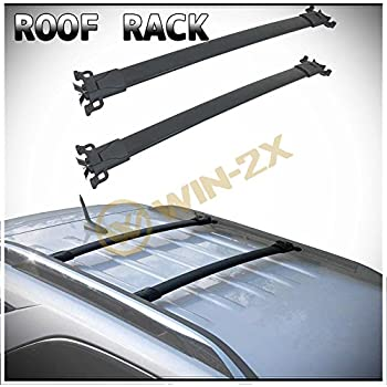 ROADFAR 38 Roof Rack Aluminum Top Rail Carries Luggage Carrier Fit for 2010 2011 2012 2013 2014 2015 2016 2017 Chevrolet Equinox//GMC Terrain Baggage Rail Crossbars