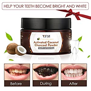 Descriptions: Ingredients: Activated Coconut Charcoal, Sodium Dodecyl Sulfate, Calcium Carbonate, Allantoin, Menthol, Citric Acid, Natural Sweetener, Sodium Bicarbonate.  Net vol: 50g  Features: Teeth powder using natural organic ingredients without ...