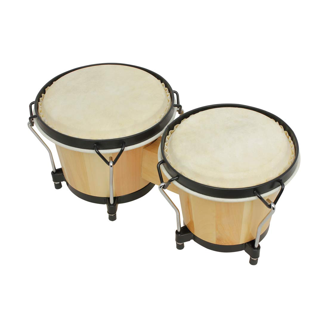 Alician Wooden African Bongos Drum Percussion Musical Instruments Early Learning Educational Toys by Alician