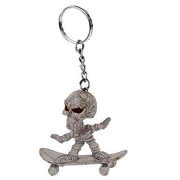 Llavero Anillo Colgante de Jinete Esqueleto Cráneo de Pie en ...