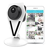Mini Indoor Wireless IP Camera - HD 720p Network Security Surveillance Home Monitoring Featuring Motion Detection, Night Vision, 2 Way Audio, iPhone Android Mobile App - PC WiFi Access - IPCAMHD12