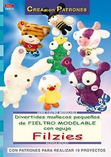 Serie Fieltro Modelable nº 14. DIVERTIDOS MUÑECOS PEQUEÑOS DE FIELTRO MODELABLE CON AGUJA FILZIES (