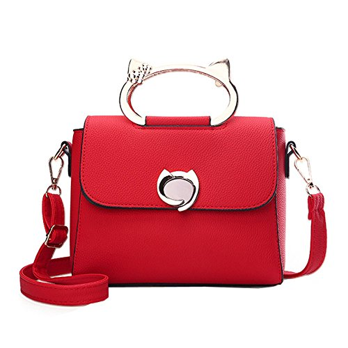 Femmes Sacs Embrayages Bandoulière Fourre Cuir Red Cuir En Main Sac En Sac Tout Main à Épaule Sac Shopping Sacs À Sacs Femmes WUYY Sacs à Mode Sacs PEUSEqC