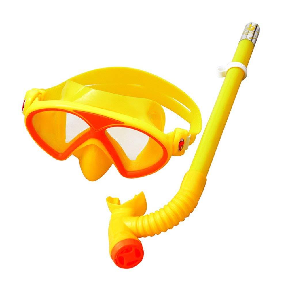 Huertuer Schutzbrillen für Erwachsene Kind Schwimmbrille Schutz Verspiegelt Kein Durchsickern Anti-Fog UV Schnorcheln Wasserdichte Mädchen Jungen Outdoor Schutz Auge, Gelb, B07PF86VBH Schwimmbrillen Aktuelle Form