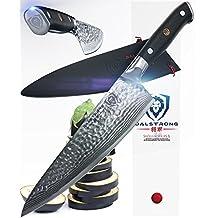 "DALSTRONG Chef's Knife - Shogun Series X Gyuto -AUS-10V - Hammered Finish - 8"" - w/ Chef Knife Sheath"
