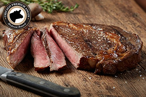 Premium Angus Beef - 4 (8oz) Ribeye - Chicago Steak Company - PSC153