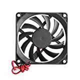 VT BigHome 12V 2-Pin 80x80x10mm PC Computer CPU System Heatsink Brushless Cooling Fan Plastic
