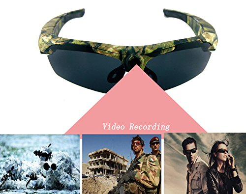 JOYCAM Sunglasses with Camera Full HD 1080P Video Recording Polarized UV400 DVR Eyeglass Camcorder for Outdoor - Video Camcorder Sunglasses