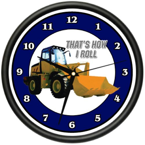 SignMission Front END Loader Wall Clock Construction attachments Tractor Farming Gag Gift, Beagle