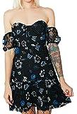 For Love & Lemons Women's Botanic Strapless Dress In Black Floral, s