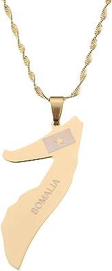 somalia necklace 18K Gold Plated Somalia somalia necklaces