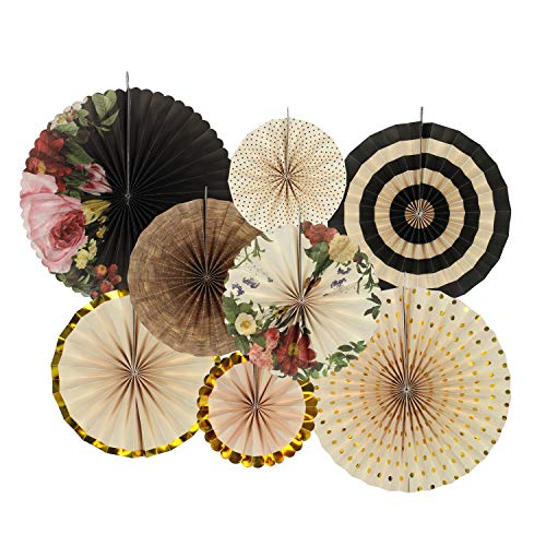 zilue Party Hanging Paper Fans Decoration Set for Wedding Birthday Party Mother