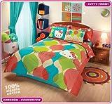 Hello Kitty Orange Comforter Bedding Set Full 8pc