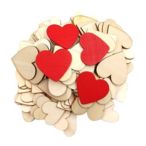 Vosarea 134PCS Wedding DIY Decoration Natural Heart-Shaped Cutouts