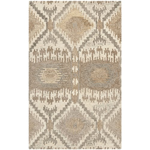 (Safavieh Wyndham Collection WYD720A Handmade Natural and Multi Wool Area Rug, 2 feet 6 inches by 4 feet (2'6