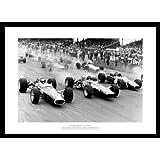 Framed Jim Clark, Graham Hill & Jack Brabham 1967 British Grand Prix Photo