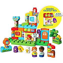 LeapFrog LeapBuilders ABC Smart House Interactive Learning Blocks Playset, Multicolor