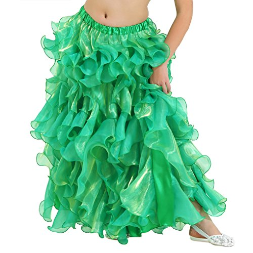 Dance Fairy Chiffon Fluffy Tutu Skirt,Opening Skirt for Party,Green (Green Fairy Dress)