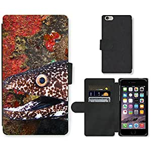 Hot Style Cell Phone Card Slot PU Leather Wallet Case // M99999248 Eel // Apple iPhone 6 PLUS 5.5""