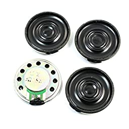 4 Pcs 0.5W 8 Ohm 26mm Internal Magnet Electronic Toy Speaker Amplifier