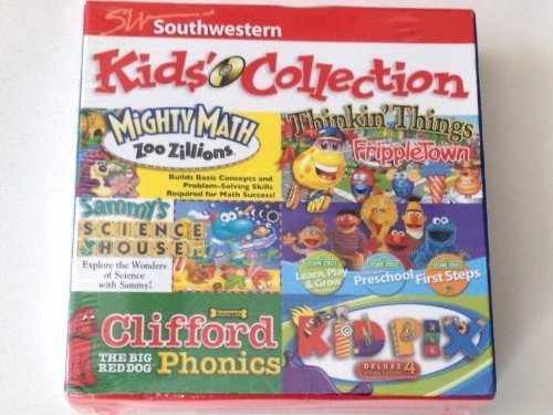 Southwestern Kids Collection 6 CD Rom Set including Sesame Street, Kid Pix and Clifford Phonics