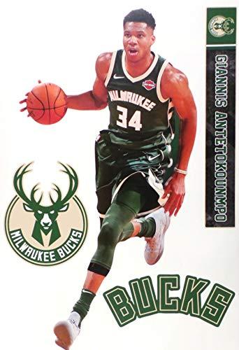 FATHEAD TEAMMATE Giannis Antetiokounmpo Milwaukee Bucks Logo Set Official NBA Vinyl Wall Graphics 17