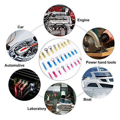 Litorange 216 PCS Heat Shrink Wire Connector Kit Electrical Insulated Crimp Marine Automotive Terminals Set by Litorange (Image #6)