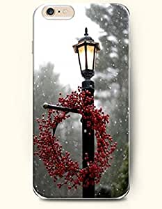 OOFIT Iphone 5C/Merry Xmas Snow Lamp And Christmas Wreath