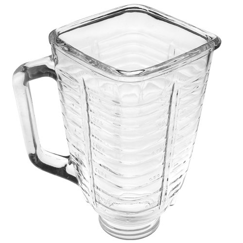 Oster Blender Replacement Jar - Oster 5-Cup Glass Square Top Blender Jar, Square Top,Clear