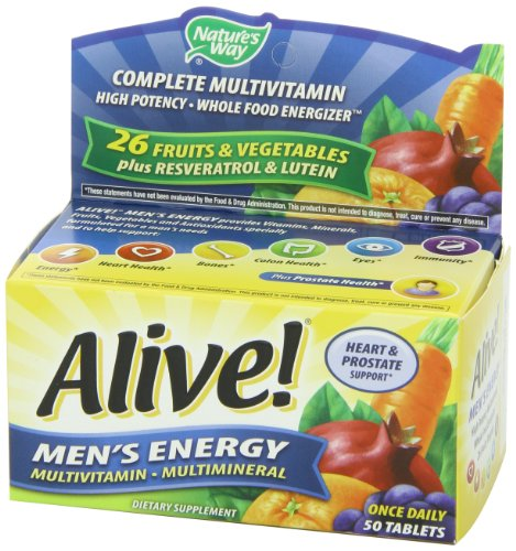 033674601945 - Nature's Way Alive! Men's Energy Tablets, 50 Count carousel main 7