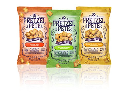 Pretzel Pete Seasoned Pretzel Nuggets, Variety Pack, 9.5 Ounce Bag (Pack of ()