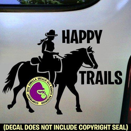 HAPPY TRAILS Trail Rider Vinyl Decal Sticker E